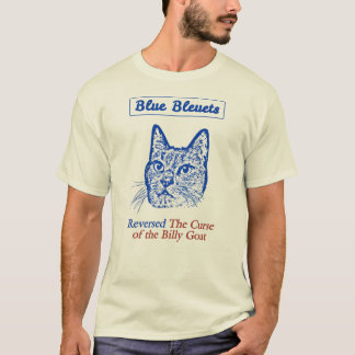 Blue Bleuets Reversed The Curse Of The Billy Goat T-Shirt