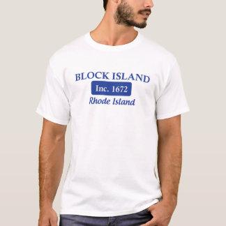 Blue Block Island Rhode Island Tee