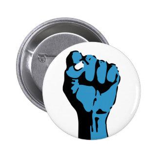 blue blooded democrat : fist 2 inch round button