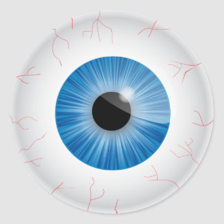 Blue Bloodshot Eyeball Sticker