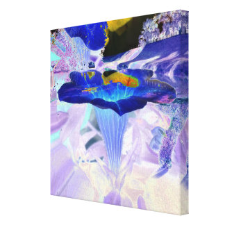 Blue bloom cup canvas print
