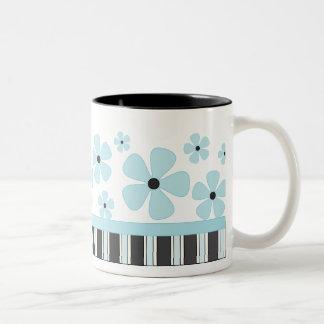 Blue Bloom Two-Tone Coffee Mug