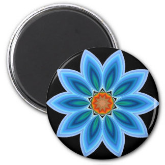 Blue Blossom 2 Inch Round Magnet