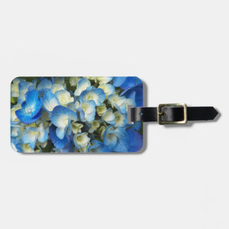 Blue Blossoms Floral Luggage Tag