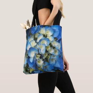 Blue Blossoms Floral Tote Bag