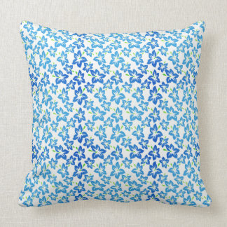 Blue Blossoms Indoor or Outdoor Pillow