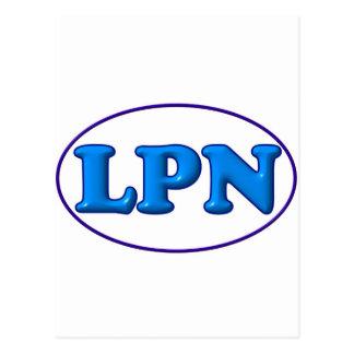 Blue Blue LPN Post Card
