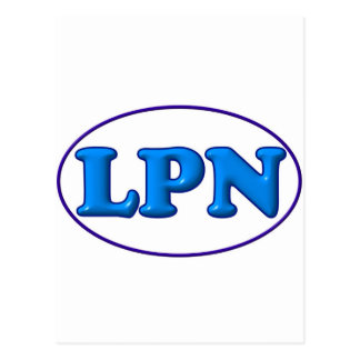 Blue Blue LPN Post Card
