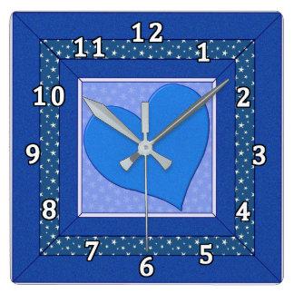 Blue, Blue, My Love Is Blue Wall Clocks