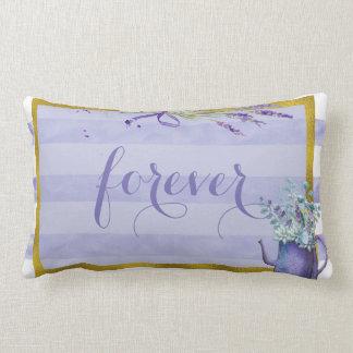 Blue Blueberry  Midsummer Rustic Wedding Forever Lumbar Pillow