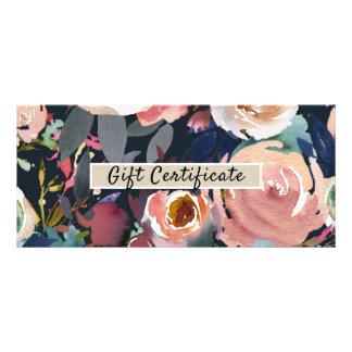 Blue Blush Pink Pastel Floral Gift Certificate
