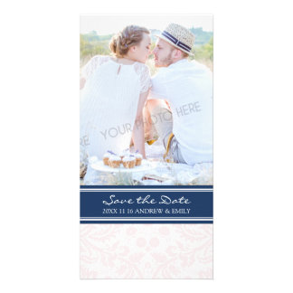 Blue Blush Save the Date Wedding Photo Cards