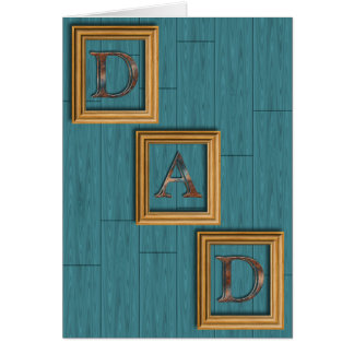 Blue Boards Father's Day Greeting Card