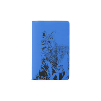 Blue Bobcat Portrait Notebook Cover