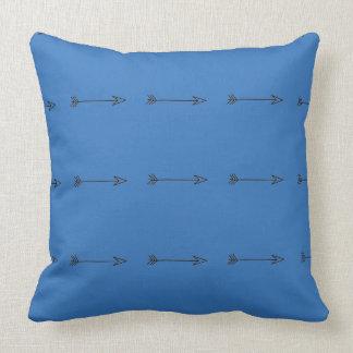 Blue Bohemian Arrow Print Pillow