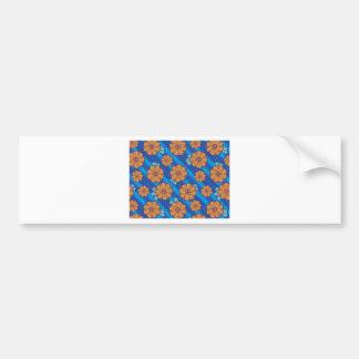 Blue Boho Blossoms Bumper Sticker
