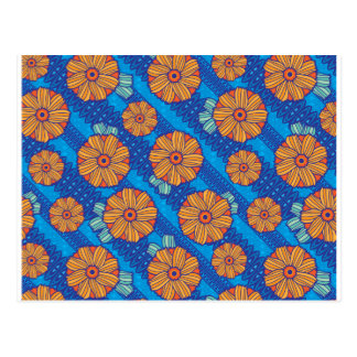 Blue Boho Blossoms Postcard