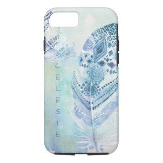 Blue Boho Feather Dream iPhone 7 Case