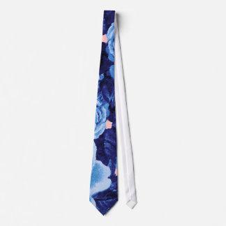Blue Boho Florals Tie
