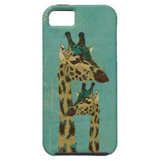 Blue Boho Giraffes iPhone Case