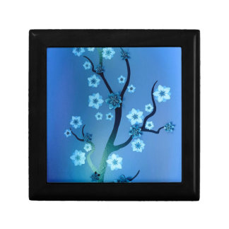 Blue Bokah Blossom Branches Gift Boxes
