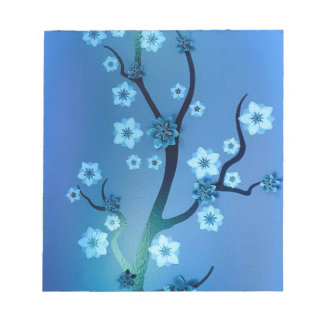 Blue Bokah Blossom Branches Notepads