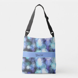 Blue Bokeh Crossbody Bag