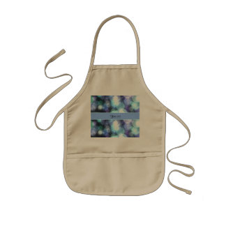 Blue Bokeh Kids Apron
