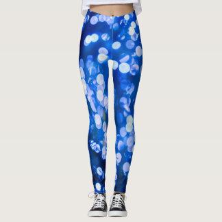 blue bokeh lights, original leggings