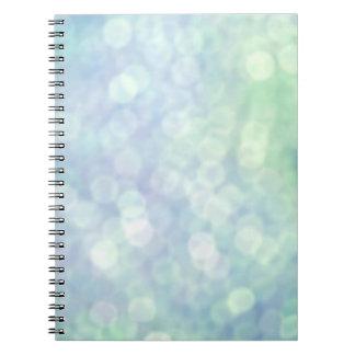 Blue Bokeh Notebook
