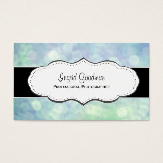 Blue bokeh photography Business Cards