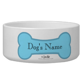 Blue Bone Boyish Dog Bowl