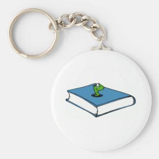 Blue Book Worm Keychain