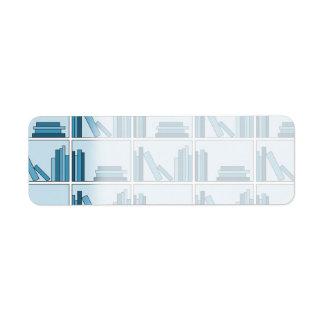 Blue Books on Shelf Return Address Labels