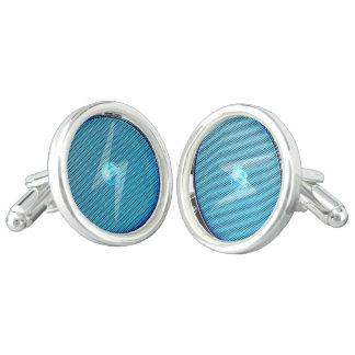 Blue boombox cufflinks