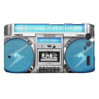 Blue boombox droid RAZR cover