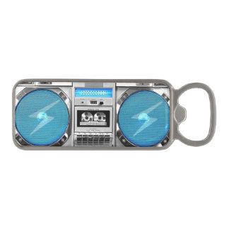 Blue boombox magnetic bottle opener