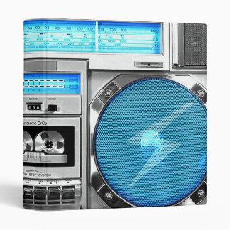 Blue boombox vinyl binder