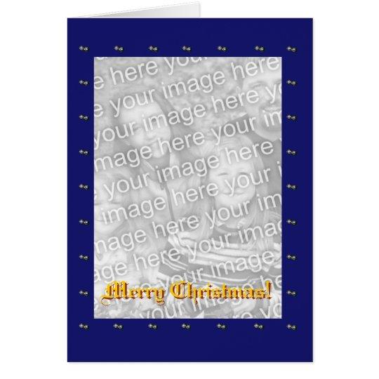 Blue Border Christmas Card Template