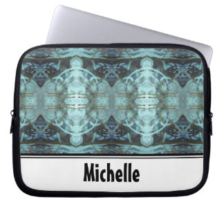 Blue Border Design Laptop Computer Sleeves