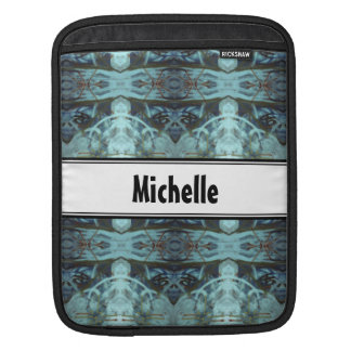 Blue Border Design Sleeves For iPads