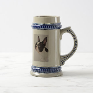 Blue Boston Terrier Dog Stein