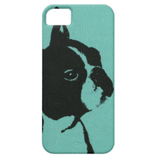 Blue Boston Terrier Phone Case