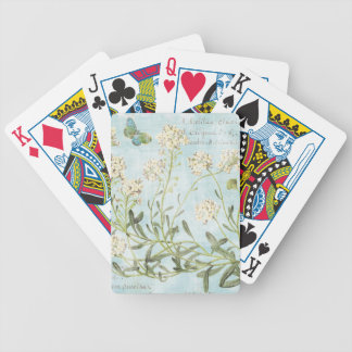 Blue Botanical Bicycle Playing Cards