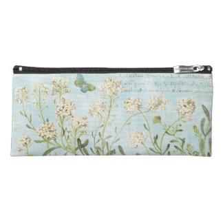 Blue Botanical Pencil Case