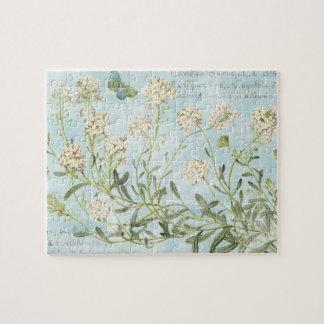 Blue Botanical Puzzle