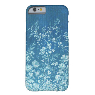 Blue Botanical Vintage Floral Print Custom Barely There iPhone 6 Case