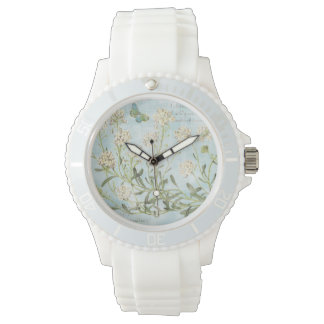 Blue Botanical Watch