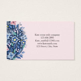 Blue Bouquet Flower Floral Business Card