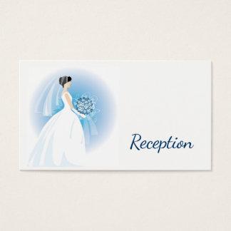 Blue Bouquet Reception Cards